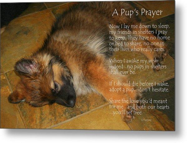 A Pup's Prayer Metal Print
