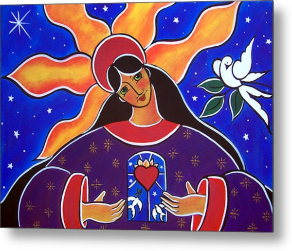 Metal Print featuring the painting A Pure Heart by Jan Oliver-Schultz
