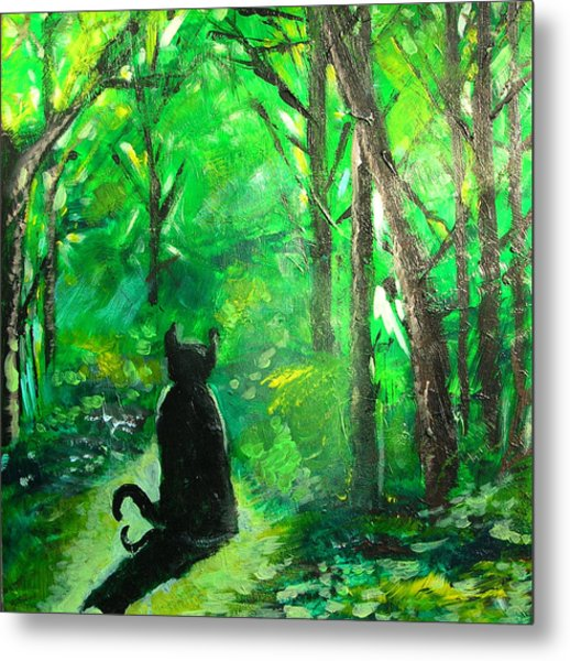 A Purrfect Day Metal Print
