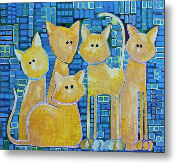 A Quorum Of Cats Metal Print
