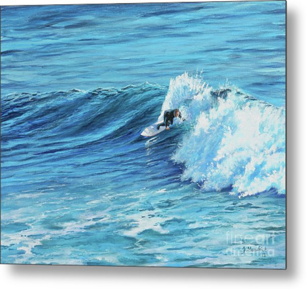 A Ride On Steamer Lane Metal Print