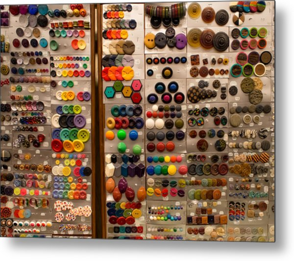 A Riot Of Buttons Metal Print