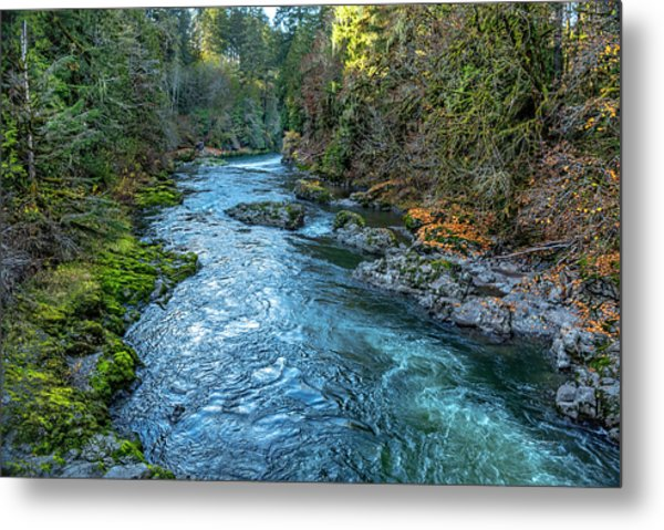 A River Runs Through It Metal Print