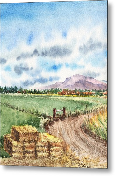 A Road To The Mountain Metal Print