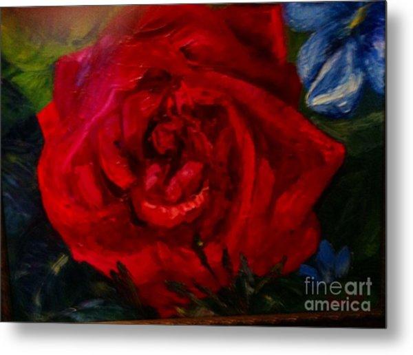 A  Rose Is Metal Print