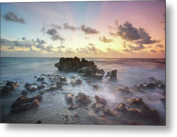 A Rocky Sunrise. Metal Print