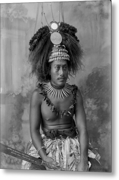 A Samoan High Chief Metal Print