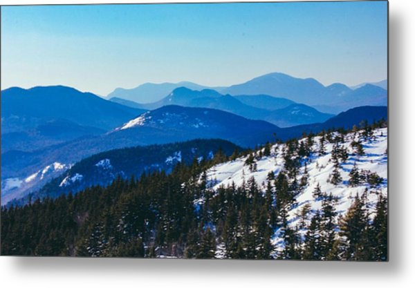 Metal Print featuring the photograph A Sea Of Mountains, South Moat Mountain Summit by Jessica Tabora