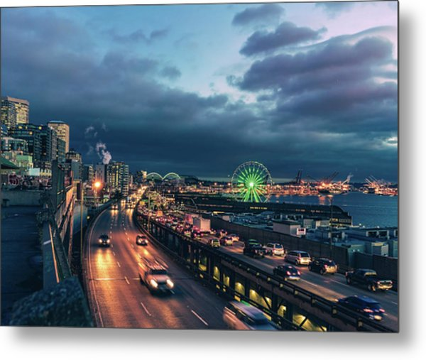 A Seattle Evening Metal Print