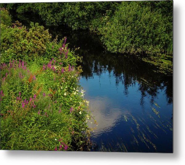 Metal Print featuring the photograph A Serene Scene In The Magical Irish Countryside by James Truett