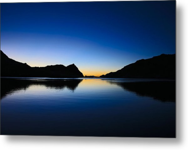 A Sierra Morning High Metal Print