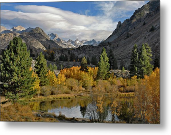 A Sierra Mountain View Metal Print