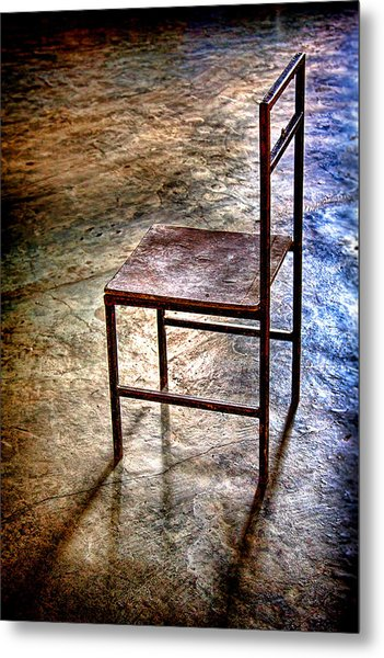 A Simple Chair Metal Print