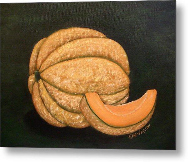 A Slice Of Melon Metal Print by Francine Henderson
