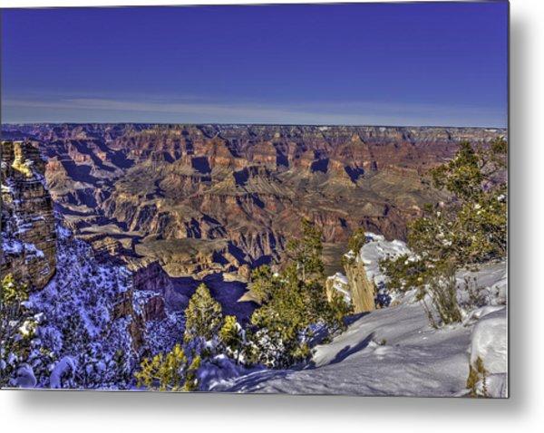 A Snowy Grand Canyon Metal Print