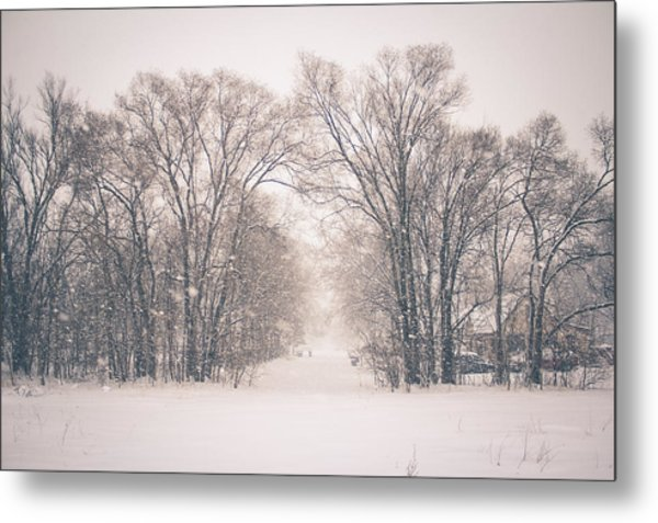 A Snowy Monday Metal Print