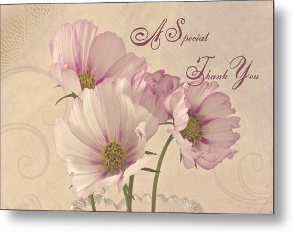 A Special Thank You - Card Metal Print