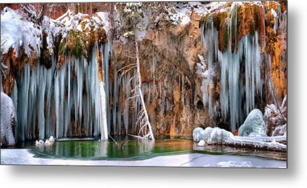 A Spring That Knows No Summer. - Hanging Lake Print Metal Print