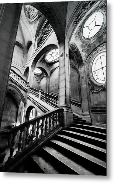 A Stairwell In The Louvre, Paris Metal Print