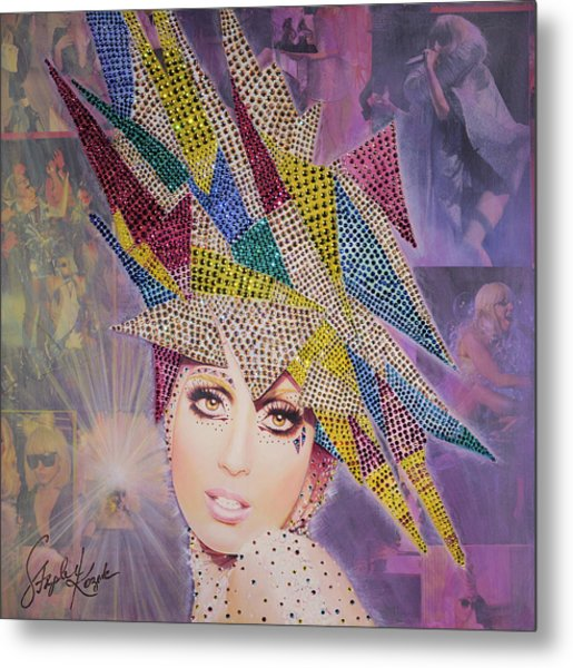 A Star Is Born This Way Metal Print by Stapler-Kozek