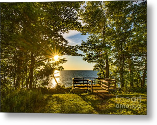 A Sterling Sunset Metal Print
