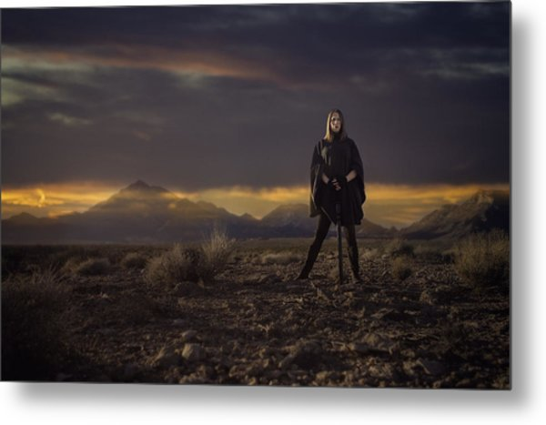A Storms Brewing Metal Print