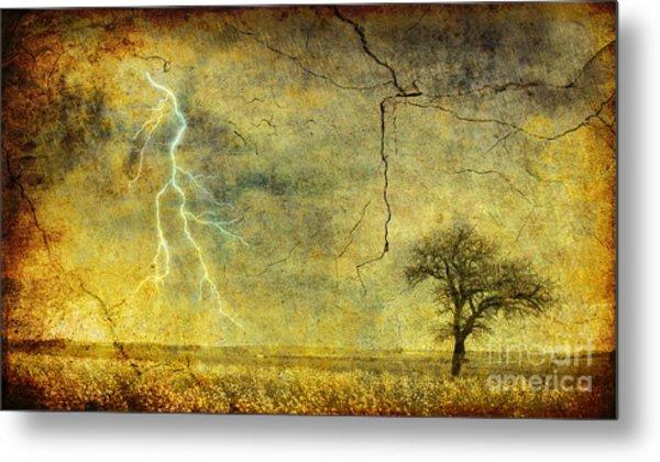 A Stormy Spring Metal Print