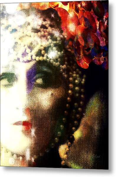 Metal Print featuring the digital art A String Of Pearls by Delight Worthyn