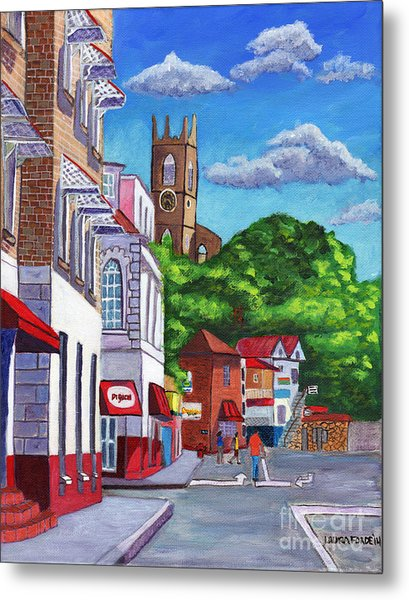 A Stroll On Melville Street Metal Print
