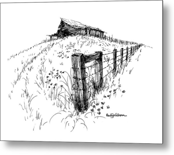 A Strong Fence And Weak Barn Metal Print