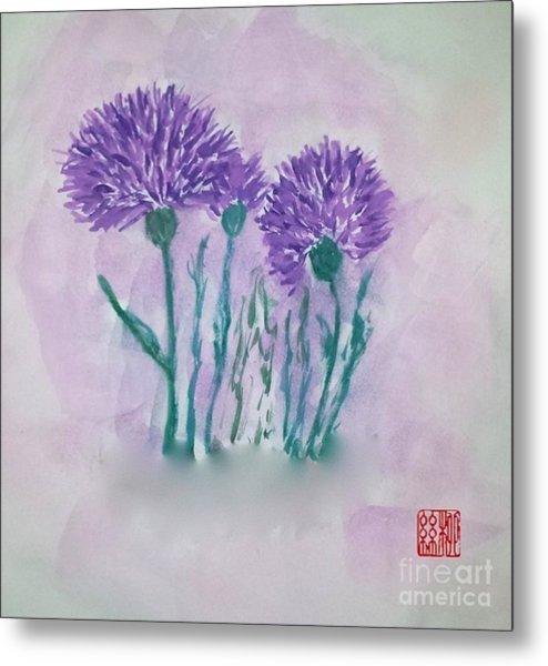 A Study In Purple Metal Print