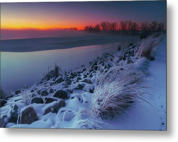 A Sunrise Cold Metal Print