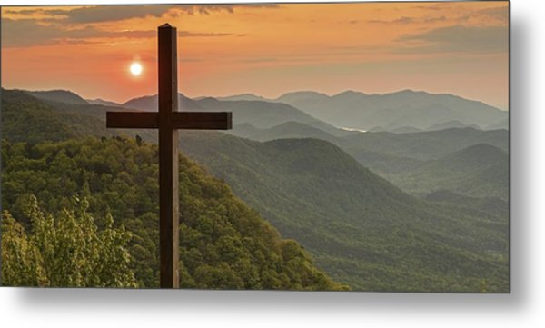 A Sunrise View From Pretty Place Greenville Sc Metal Print by Willie Harper