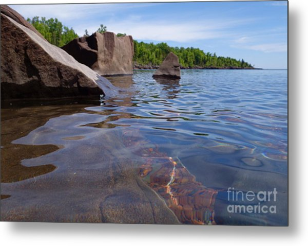 A Superior Shoreline Metal Print