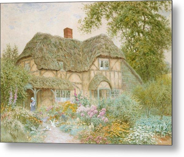 A Surrey Cottage Metal Print