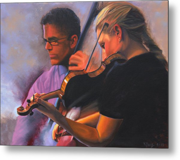 A Tale Of Two Musicians Metal Print