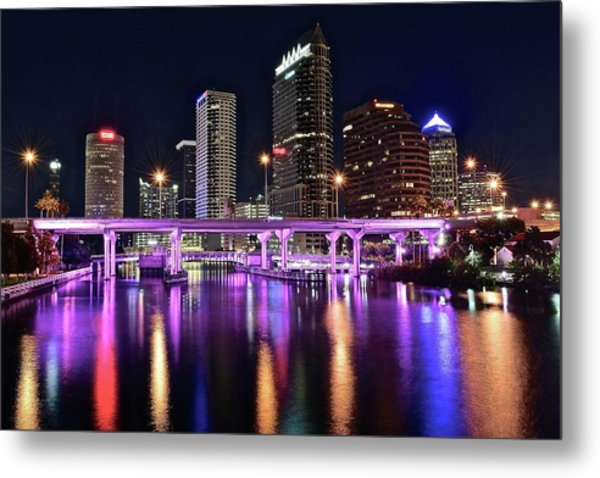 A Tampa Night Metal Print