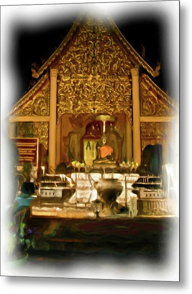 A Temple Night 2 Metal Print