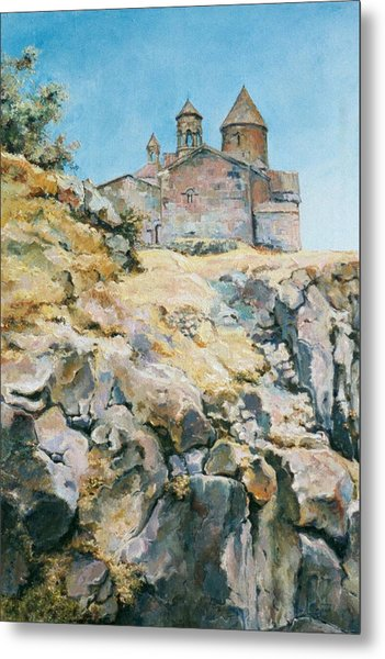 A Temple On The Rock Metal Print