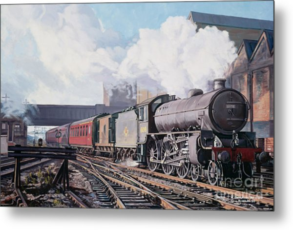 A 'thompson' B1 Class Moving Empty Stock On A Cold February Morning Metal Print