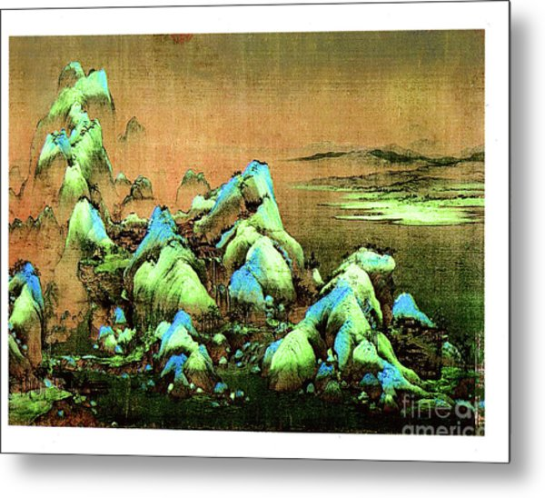 A Thousand Li Of Rivers And Mountains  Ca. 1120-1196 Metal Print