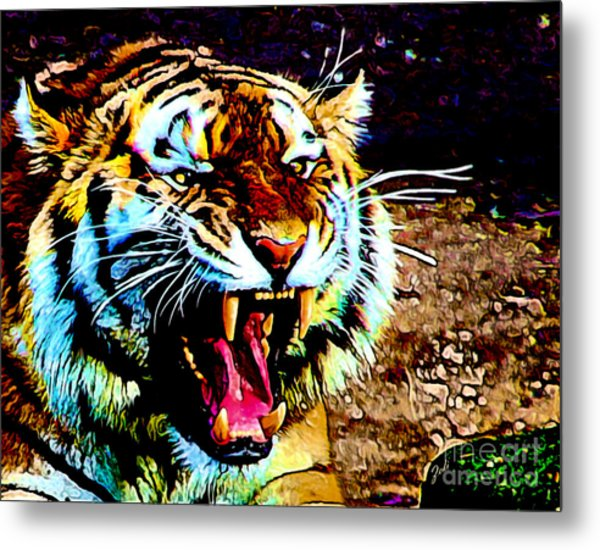 A Tiger's Roar Metal Print