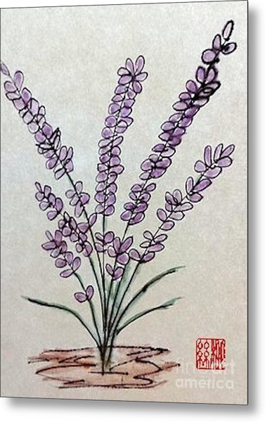 A Touch Of Lavender Metal Print