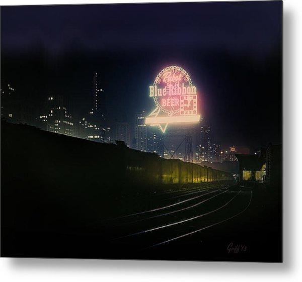 A Train's A Comin' 1948 Metal Print