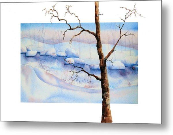 A Tree In Another Dimension Metal Print