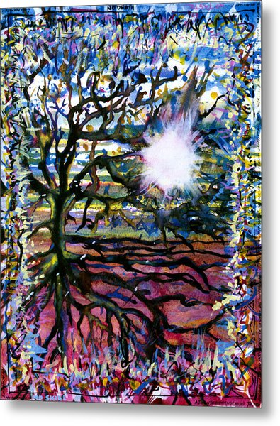 A Tree In The Country For Shitao Metal Print by Tom Hefko