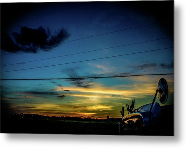 A Trucker's View Metal Print