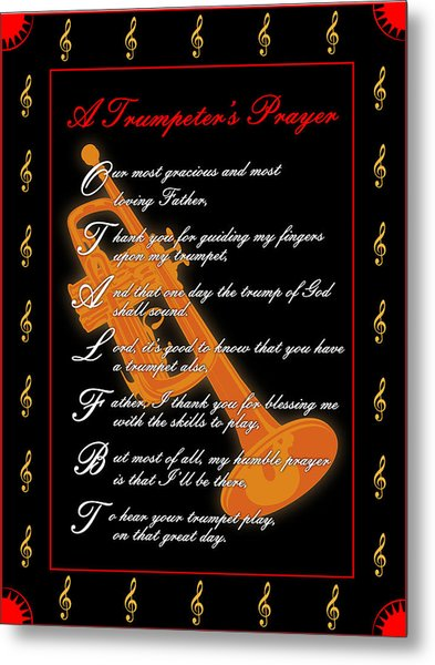 A Trumpeters Prayer_1 Metal Print by Joe Greenidge