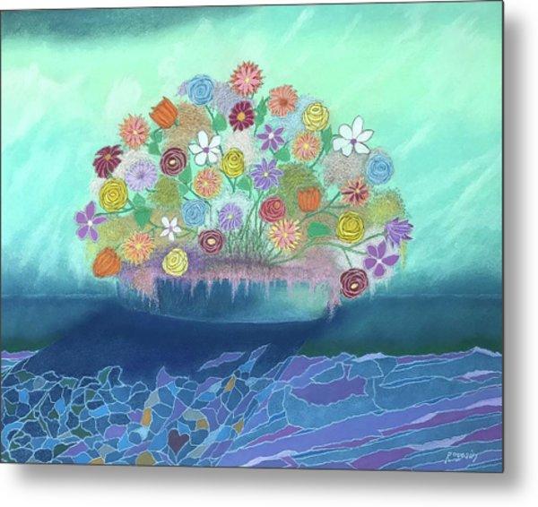 A Vase Of Flowers IIi Metal Print by Harvey Rogosin