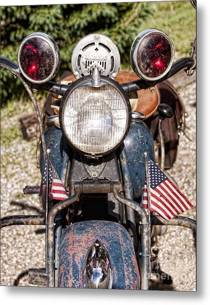 A Very Old Indian Harley-davidson Metal Print